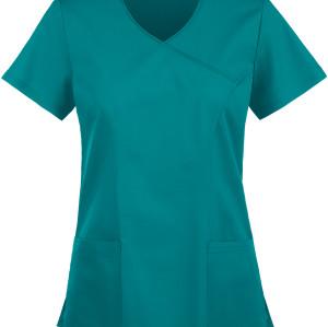 Women's Scrub Tops Stretch | 2-Pocket V-Neck Mock Wrap Scrub Tops | Wholesale Scrub Tops With Logo Custom