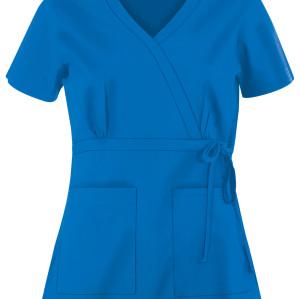 Ladies Stylish Scrub Tops | 2-Pocket Mock Wrap Scrub Tops Cotton | Nursing Uniforms Wholesale Scrubs Manufacturer