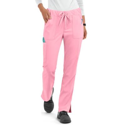 Scrub Pants For Women   5-Pocket Tapered Leg Drawstring Scrub Pants Stretch   Wholesale Scrub Pants With Logo Custom Supplier
