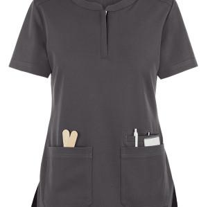 Women's Scrub Tops Stretch   3-Pocket Zip Closure 4 Way Stretch Scrub Tops   Wholesale Medical Scrub Tops Manufacturer