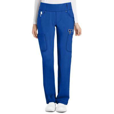 Scrub Pants For Women   6-Pocket Knit Waist Cargo Scrub Pants Stretch   Wholesale Scrub Pants Quality Manufacturer