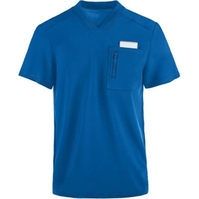Men's Scrub Tops Quality   1-Pocket V-Neck 4 Way Stretch Scrub Tops   Custom Scrub Tops With Logo Wholesale
