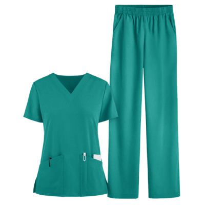 Women's Scrub Sets Quality | 4 Way Stretch V-neck Scrub Tops&Elastic Waist Pants | Wholesale Scrub Uniforms Affordable