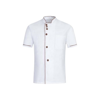 Unisex Catering Staff Uniforms | Short Sleeve Button Catering Uniforms Cotton | Wholesale Catering Uniforms Affordable