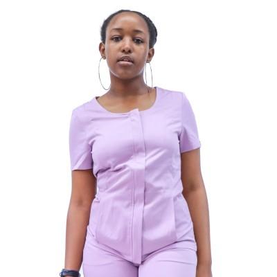 Plus Size Scrub Uniforms For Nurses | Short Sleeve Invisible Zip Up Scrub Uniforms | 4 Way Stretch Scrub Hospital Uniform Custom