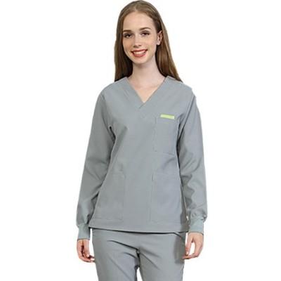 Women's Spa Apparel Uniforms | V-Neck Long Sleeve Salon Wear Uniforms | Custom Beauty Work Uniforms Wholesale