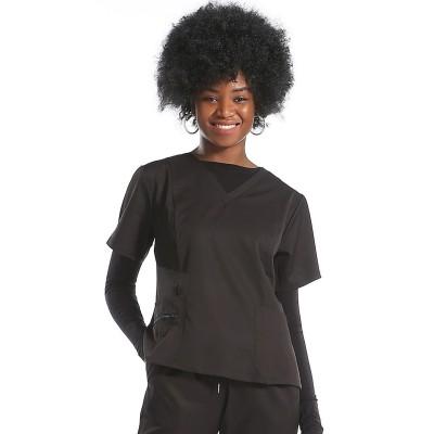 Women's Scrub Uniforms Black | V-neck Solid Nurse Scrubs Sets | Jogger Pants Elastic | Custom Nurse Scrubs Sets Wholesale