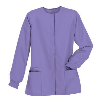 Scrub Jackets For Women | 3-Pocket Snap Cotton Front Jackets Medical Nursing | Custom Scrub Jackets With Logo Supplier