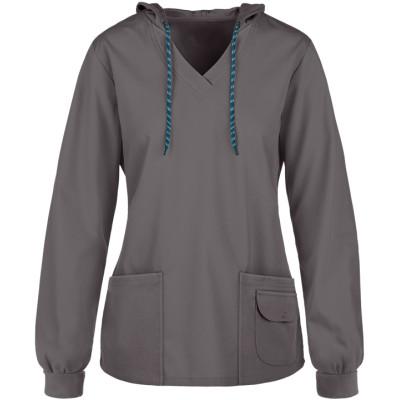 Nursing Scrub Hoodies For Women | 4-Pocket Scrub Pullover Hoodies Cotton | Wholesale Scrub Top Hoodies With Logo Supplier