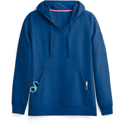 Nursing Scrub Hoodies For Women | 3-Pocket Long Sleeve 4 Way Stretch Scrub Hoodies | Wholesale Scrub Top Hoodies Supplier