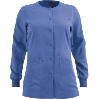 Scrub Jackets For Women | 4-Pocket Round Neck Warm-Up Modern Fit Scrub Jackets | Wholesale Scrub Jackets Manufacturer
