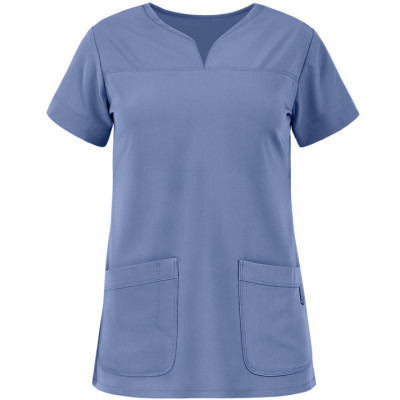 Scrub Tops For Women Stylish | 2-Pocket Modern Fit Scrub Tops Cotton | Wholesale Scrub Tops With Logo Affordable Supplier