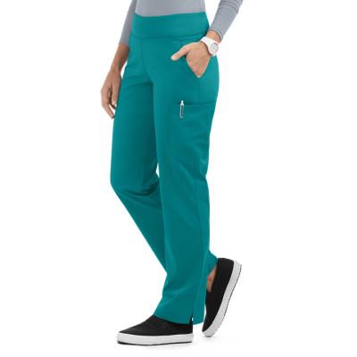 Women's Yoga Scrub Pants | 4-Pocket Knit Waistband Straight Leg Yoga Scrub Pants | Wholesale Scrub Pants Affordable Supplier