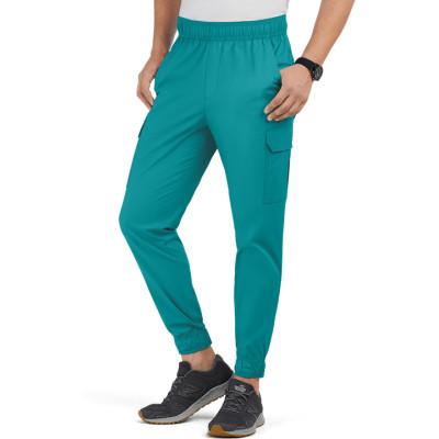 Mens Classic Jogger Scrub Pants | 7-Pocket Cargo Jogger Scrub Pants With Elastic Waist | Medical Scrub Pants Wholesale