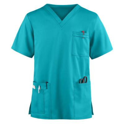 Unisex Scrub Tops For Sale | 4-Pocket V-Neck Scrub Tops Cotton | Wholesale Scrub Tops Custom Logo Manufacturer