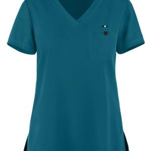 Scrub tops for women Stylish   1-Pocket V-Neck Scrub Tops   Wholesale Scrub Tops With Logo Manufacturer