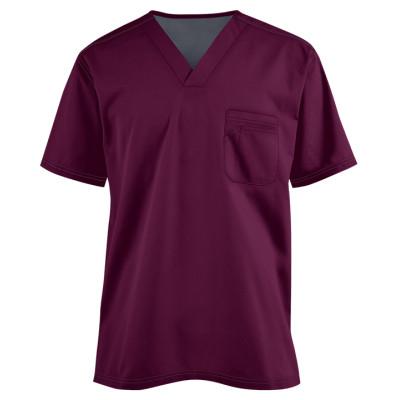 Scrub Tops For Men | 1-Pocket V-neck Short Sleeve Scrub Tops | Wholesale Scrub Tops With Logo Manufacturer