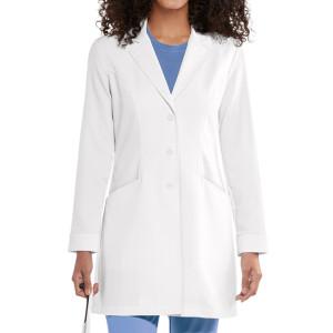Lab Coats For Women   2-Pocket Long Sleeve Princess Seam Scrub Lab Coats   Wholesale Lab Coats With Logo Manufacturer