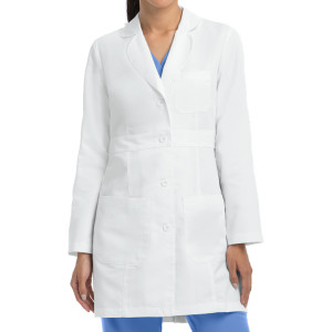 Lab Coats For Women   3-Pocket Belted Long Sleeve Scrub Lab Coats   Wholesale Lab Coats Supplier Affordable