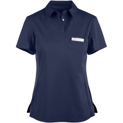 Women's Scrubs Polo | 1-Pocket Snap Front Scrub Polo Tops | Wholesale Medical Scrub Tops Affordable Manufacturer