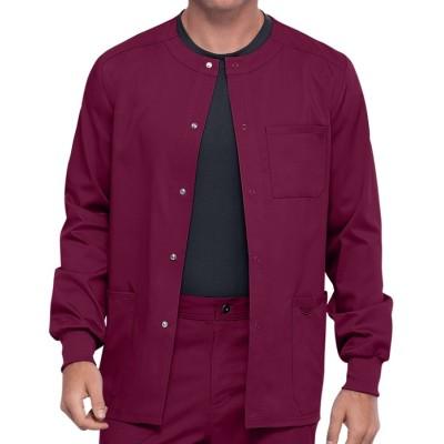 Scrub Jackets For Men | Men's 3-Pocket Snap Front Scrub Jackets Warm Up | Wholesale Scrub Snap Jacket Manufacturer