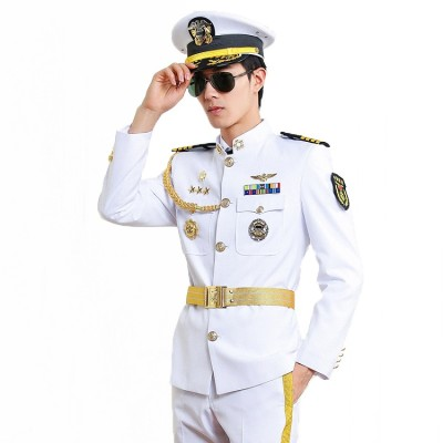 Navy Security Uniforms | Stand Collar Merchant Captain Navy Military Uniforms | Custom Security Uniforms&Accessories Affordable