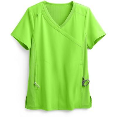 Scrub Tops For Women Stylish | 4-Pocket Mock Wrap Scrub Tops Stretch | Wholesale Medical Scrub Tops Manufacturer
