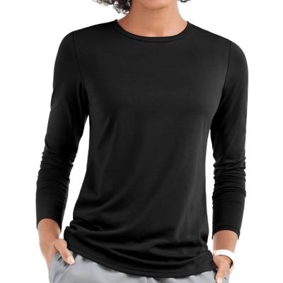 Scrub Inners For Women | Long Sleeve Crew Inner Scrub Shirt | Wholesale Scrub Inners Affordable Manufacturer