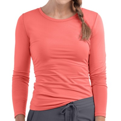 Women's Under Scrub T Shirts | Crew Neck Long Sleeve Scrub Tee Quality | Wholesale Nursing Scrub Undershirt Manufacturer