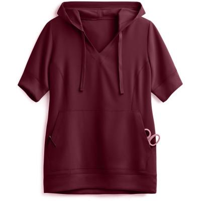 Scrub Hoodies Women's | 2-Pocket Short Sleeve Scrub Hoodies Pullover | Wholesale Nurse Scrub Hoodies Manufacturer