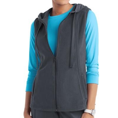 Scrub Vests Womens | 2-Pocket Fleece Hooded Scrub Vests | Custom Scrub Vest With Pockets Wholesale Supplier