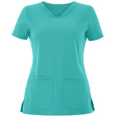 Scrub Tops For Women | 3-Pocket Pitter-Pat V-Neck Scrub Tops Stretch | Wholesale Scrub Tops In Bulk Manufacturer