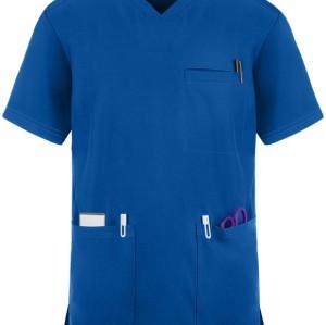 Scrub Tops For Men | 3-Pocket Sports V-Neck Short Sleeve Scrub Tops | Scrub Tops In Bulk Wholesale Manufacturer
