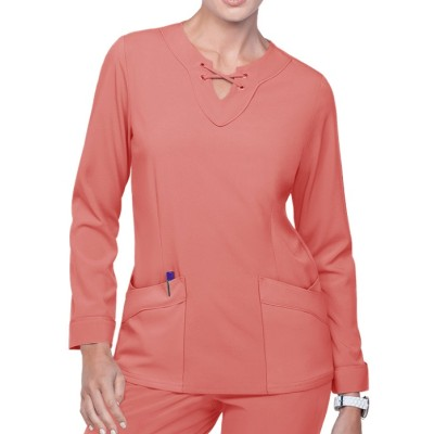 Stylish Scrub Tops For Women | 4-Pocket Long Sleeve Scrub Tops Stretch | Custom Scrub Tops In bulk Wholesale Supplier
