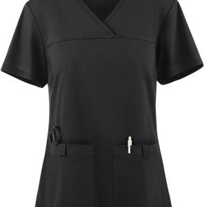 Scrub Tops For Women | 2-Pocket Knit Side Panel V-Neck Scrub Tops | Quality Medical Scrub Tops Wholesale