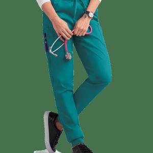 Women's Scrub Pants Joggers | Solid Drawstring Stretch 4-Pocket Scrub Pants Cotton | Wholesale Medical Scrub Pants