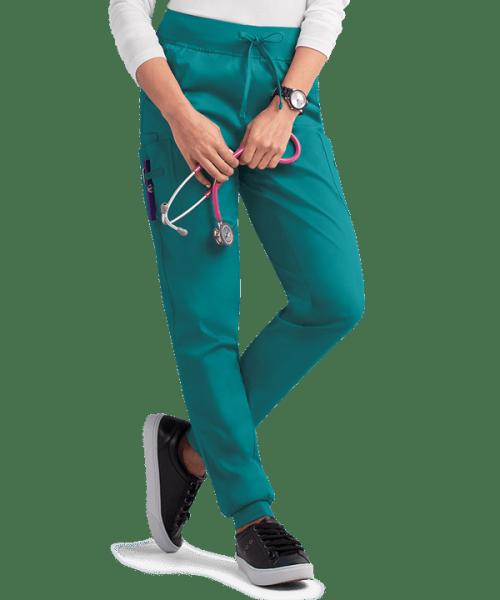 Women's Scrub Pants Joggers   Solid Drawstring Stretch 4-Pocket Scrub Pants Cotton   Wholesale Medical Scrub Pants