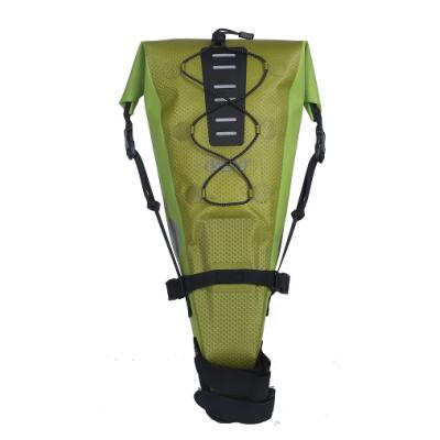 防水自行车座包-浅绿色
