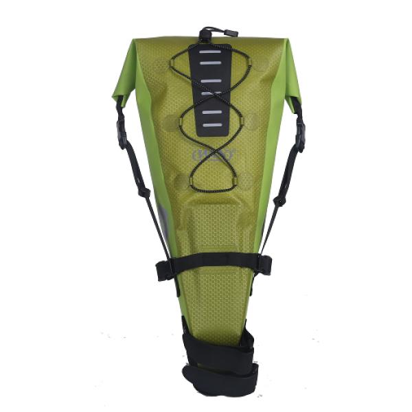Refective Logo Bicycle Seatpack Bag - Light Green