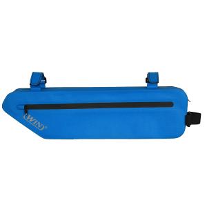 轻便的防水自行车车架包-蓝色