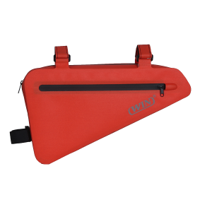 Waterproof Bicycle Frame Bag Storage Bag- Red