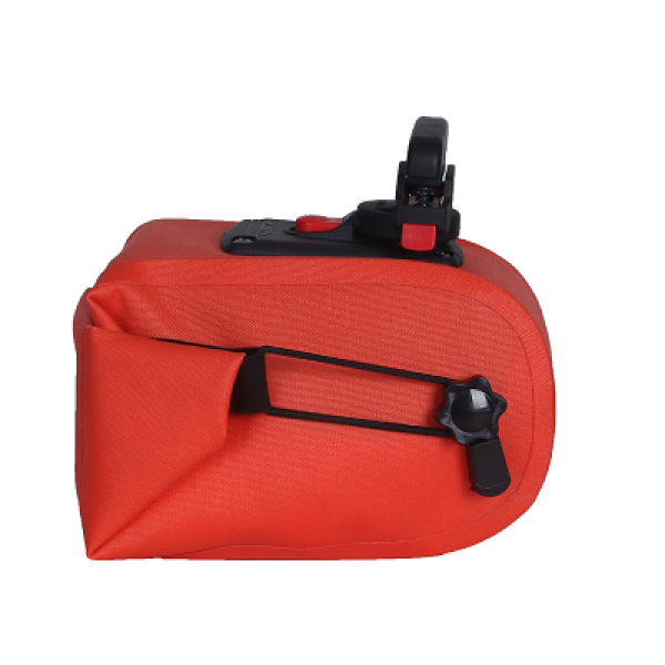 Bike Saddle Bag Bicycle Under Seat Pouch - Red