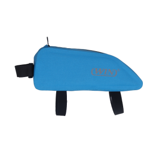 Bicycle Top Tube Bag Corner Pouch Storage Bag for Cycling Accessories - Blue