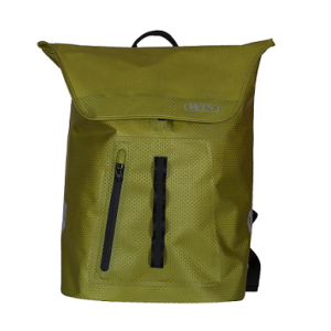 Backpacks with Exterior Airtight Zippered Pocket - Light Green