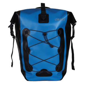 Roll Top Commuting Bike Pannier Bags Daypack for Outdoor - Blue