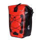 Bike Side Storage Bag with Adjustable Hooks for Bike Cycling Touring - Red