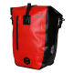 Waterproof Panniers Pack with Reflective Logo - Red