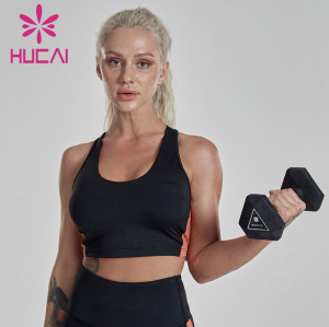 Women's color matching anti sagging and shockproof running underwear wholesale sports bras in bulk