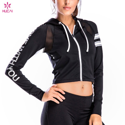 Wholesale gym clothing women's coat autumn and winter tight long sleeve fitness jacket running suit