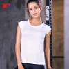 wholesale athletic shirts Black and white mesh splicing short sleeve fitness running T-shirt